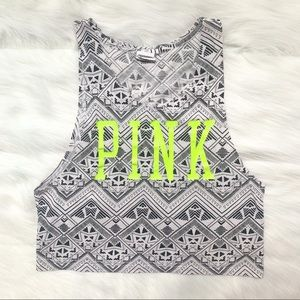 PINK Victoria's Secret Neon Logo Tank Top Size XS